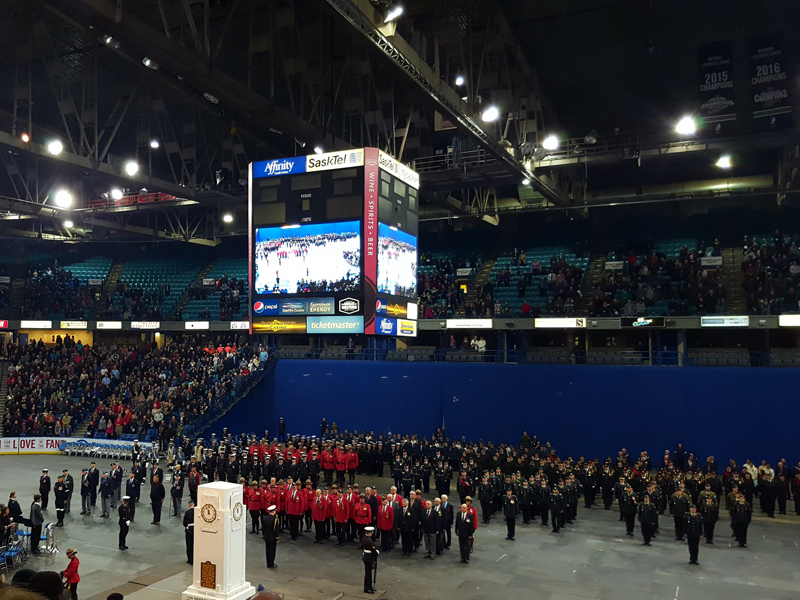 Remembrance Day Service Taking Place at SaskTel Centre