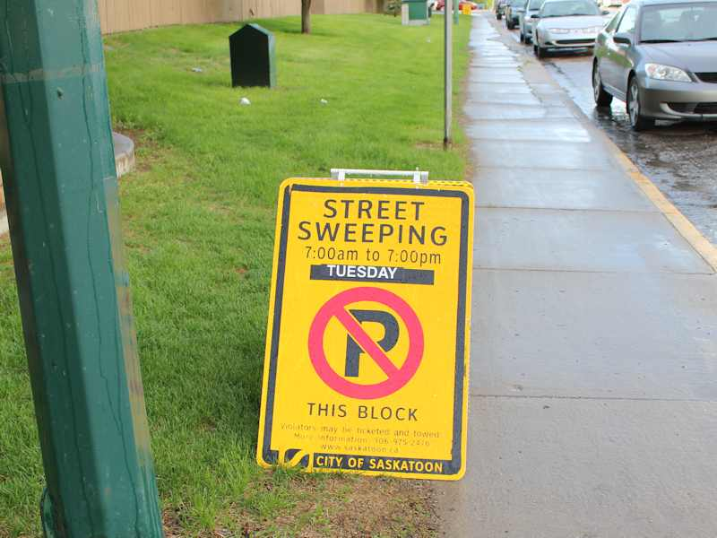 Street Sweeping on Circle Drive Begins