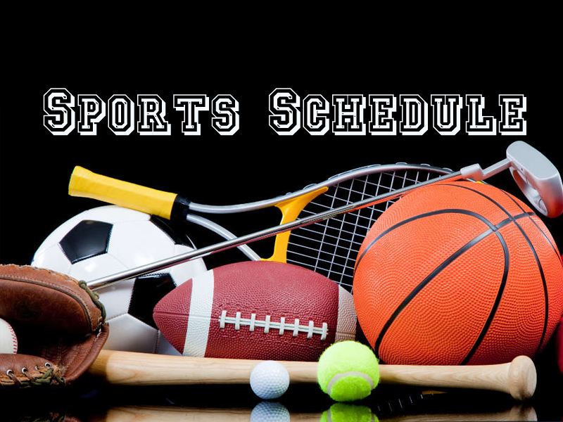 Thursday Sports Schedule