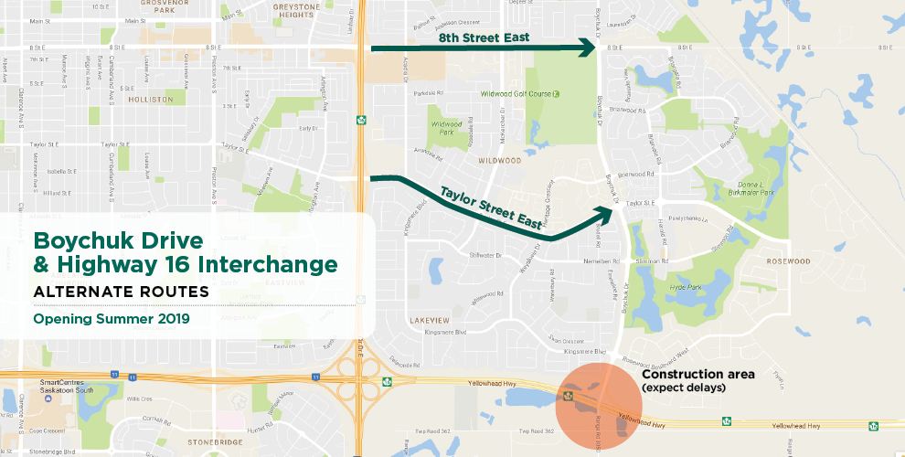 Traffic Patterns Change Sunday at Boychuck and Highway 16 Interchange
