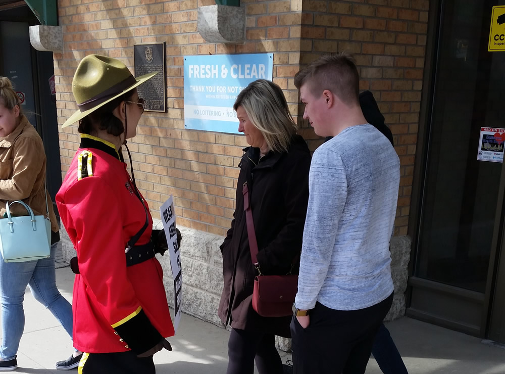 PETA's Fashion Police Protest in Downtown Saskatoon