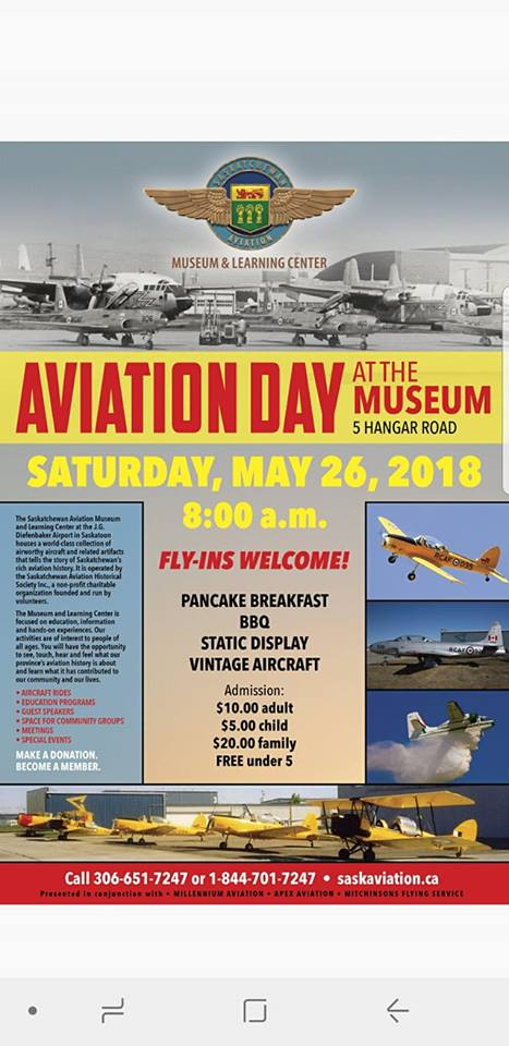 Saskatchewan Aviation Museum Opens with Community Aviation Day