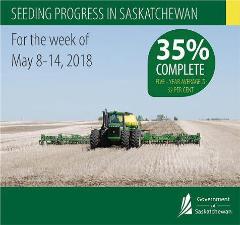 Saskatchewan Seeding at 35 Percent