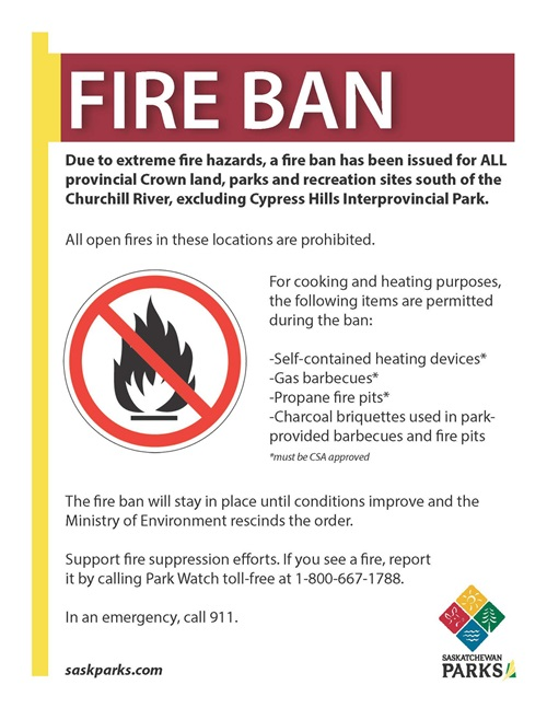More Fire Bans in Response to Dry Conditions