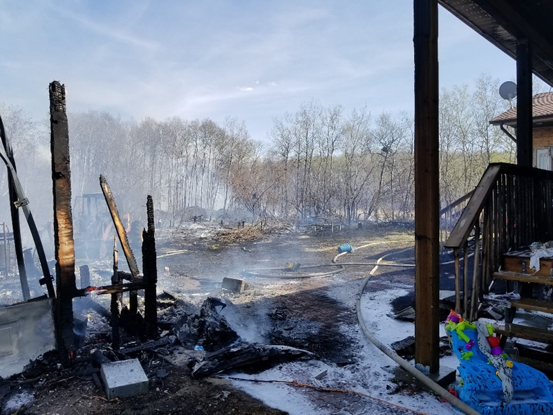 House Fire Expands Beyond Acreage In RM Of Blucher