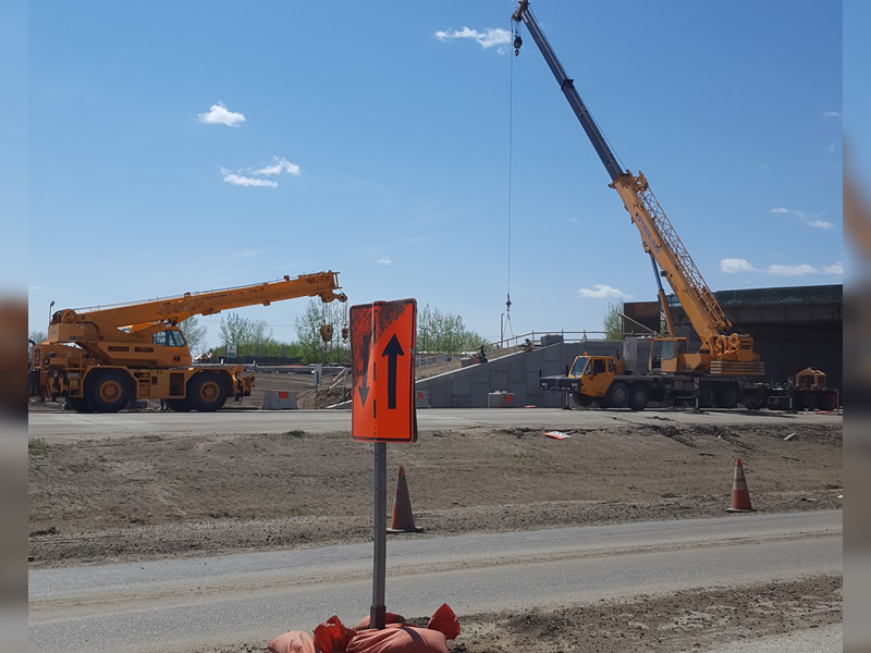 Concrete Work is Underway at the McOrmond Drive and College Drive Interchange