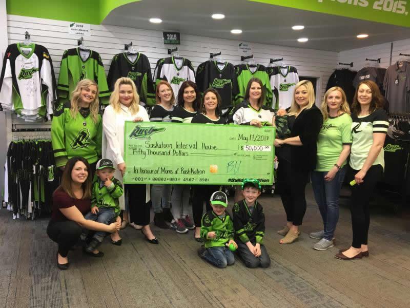 The Rush Donates Saskatoon Interval House