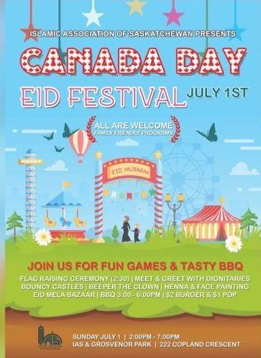 Islamic Association of Saskatchewan Hosting Canada Day Celebrations