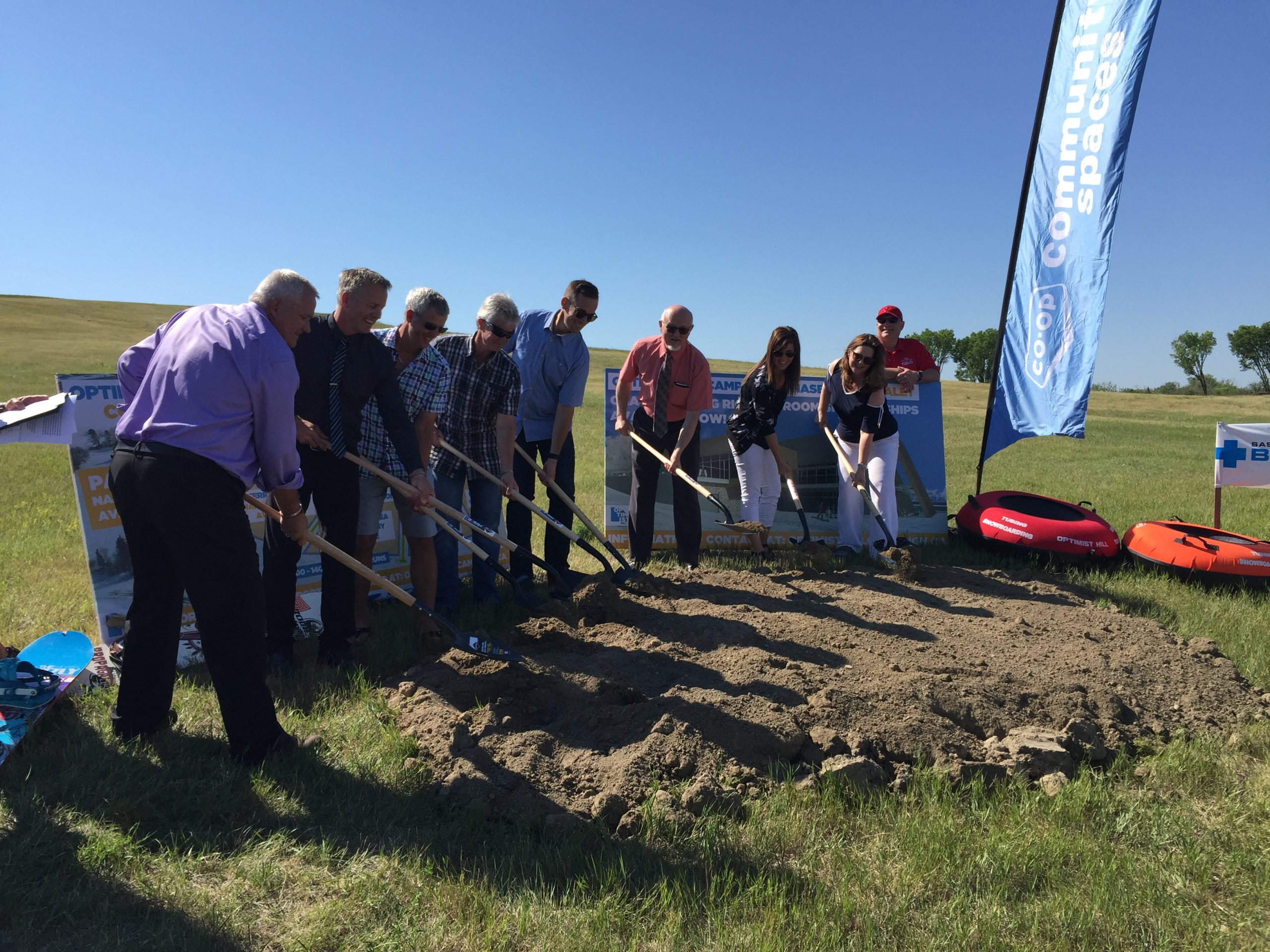 Construction Begins at the New Optimist Hill at Diefenbaker Park
