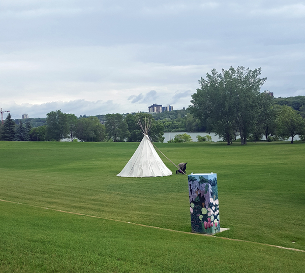 TeePee Set up in Saskatoon