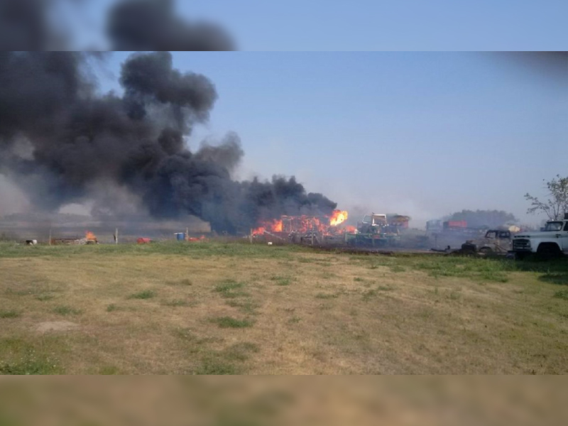 Photos Released of Fire Along Highway 1 From Moosomin to Manitoba