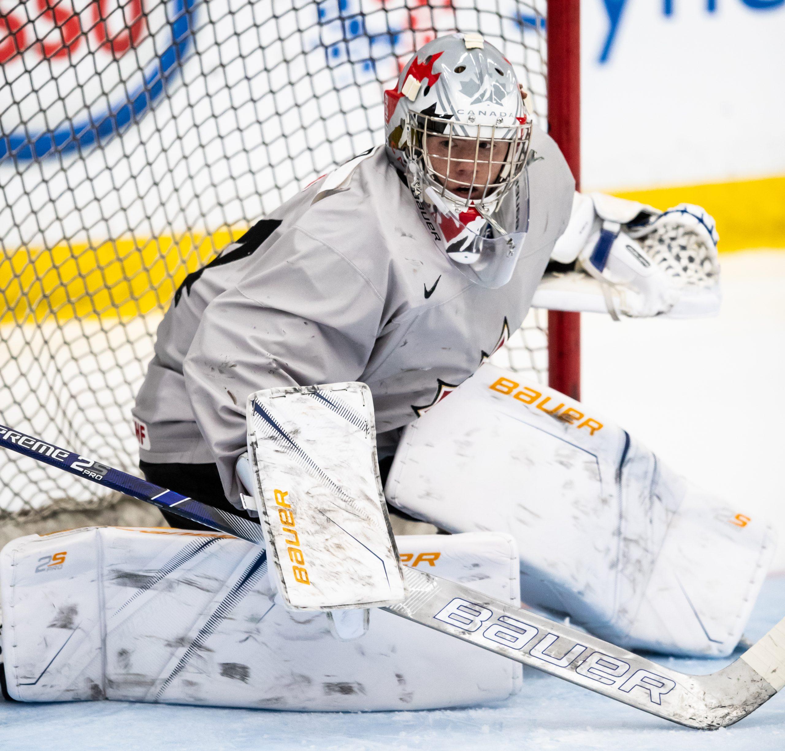 """Maier Posts """"Easy"""" Shutout as Canada Wins Hlinka-Gretzky Opener"""