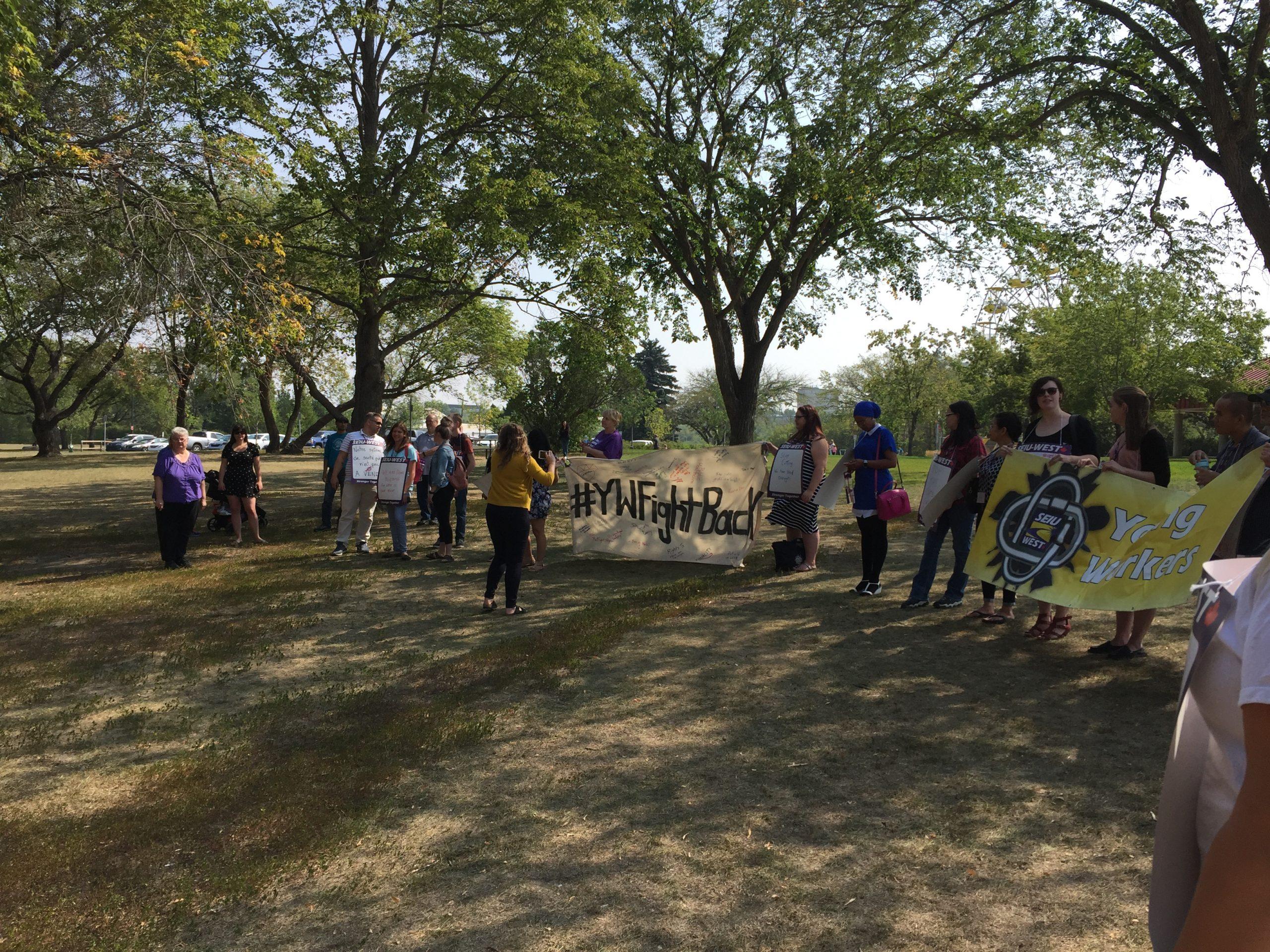Saskatoon Protest Highlights Cuts to Public Service