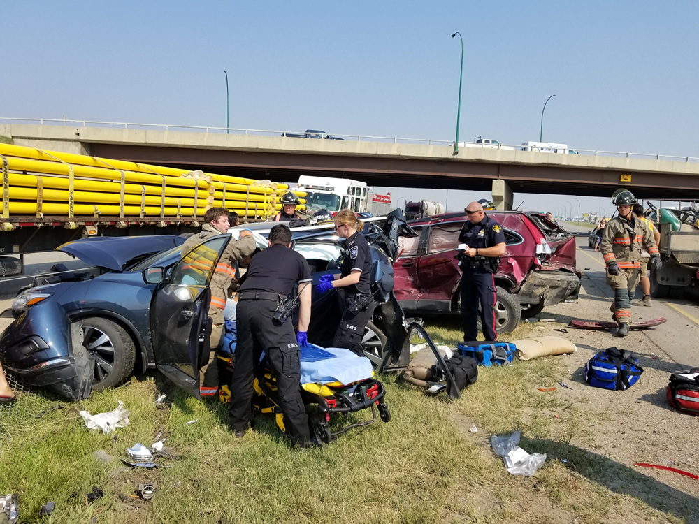 Six Vehicle Accident On Idylwyld, One Person Extracted