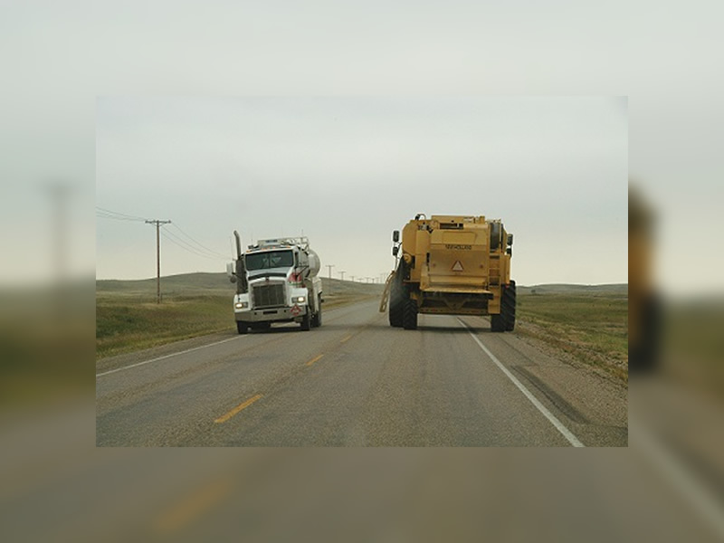 Be Patient With Farm Machinery On The Road