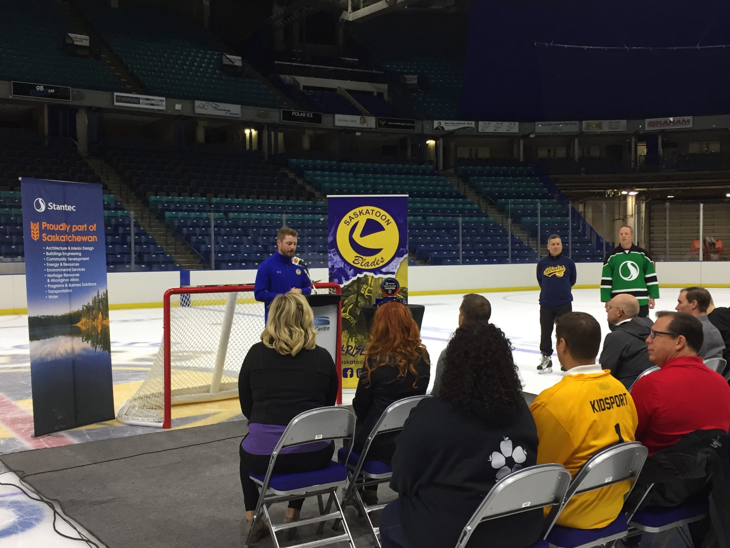 Saskatoon Blades Host Stantec Shootout Charity