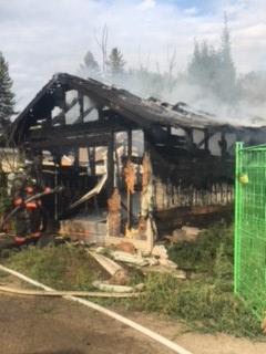 Garage Destroyed in Fire