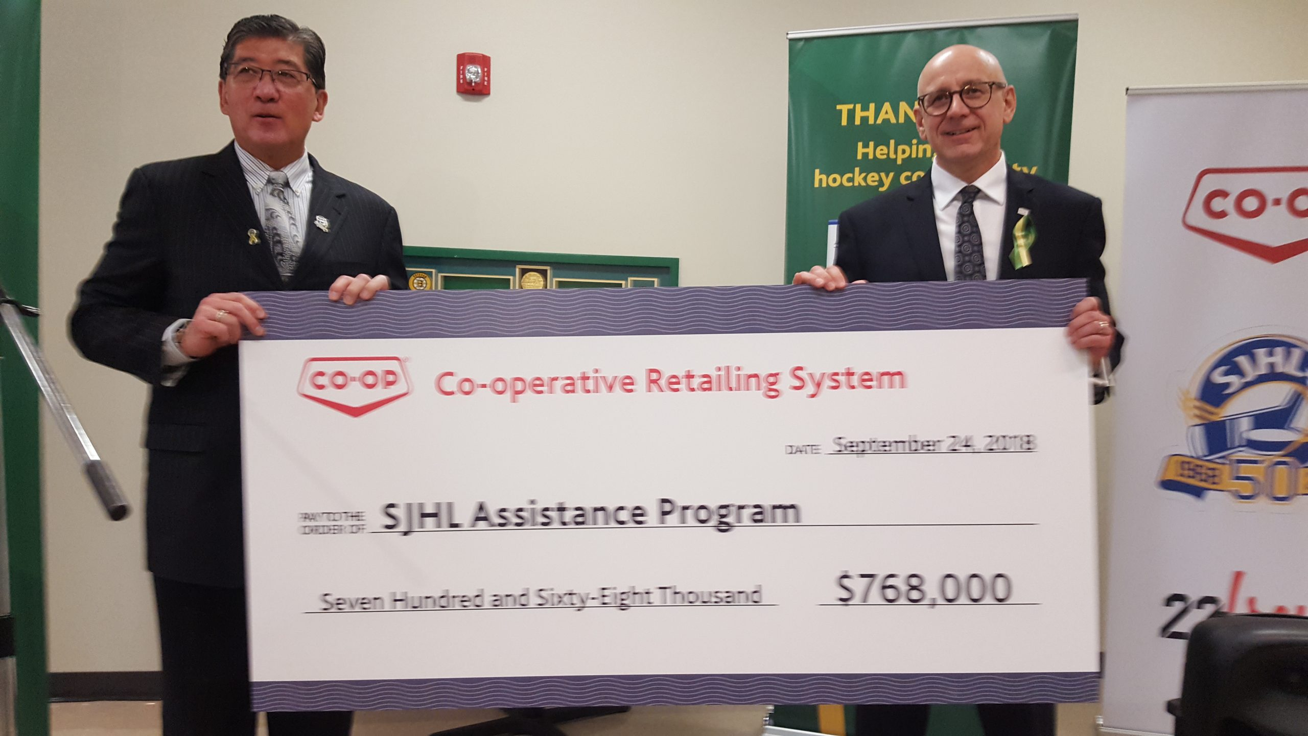 S-J-H-L Assistance Program Gets Large Contribution From Co-op