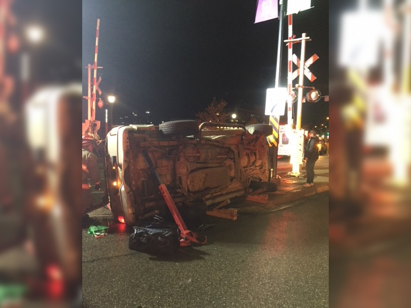 Four Taken to Hospital Following an Accident Involving an SUV