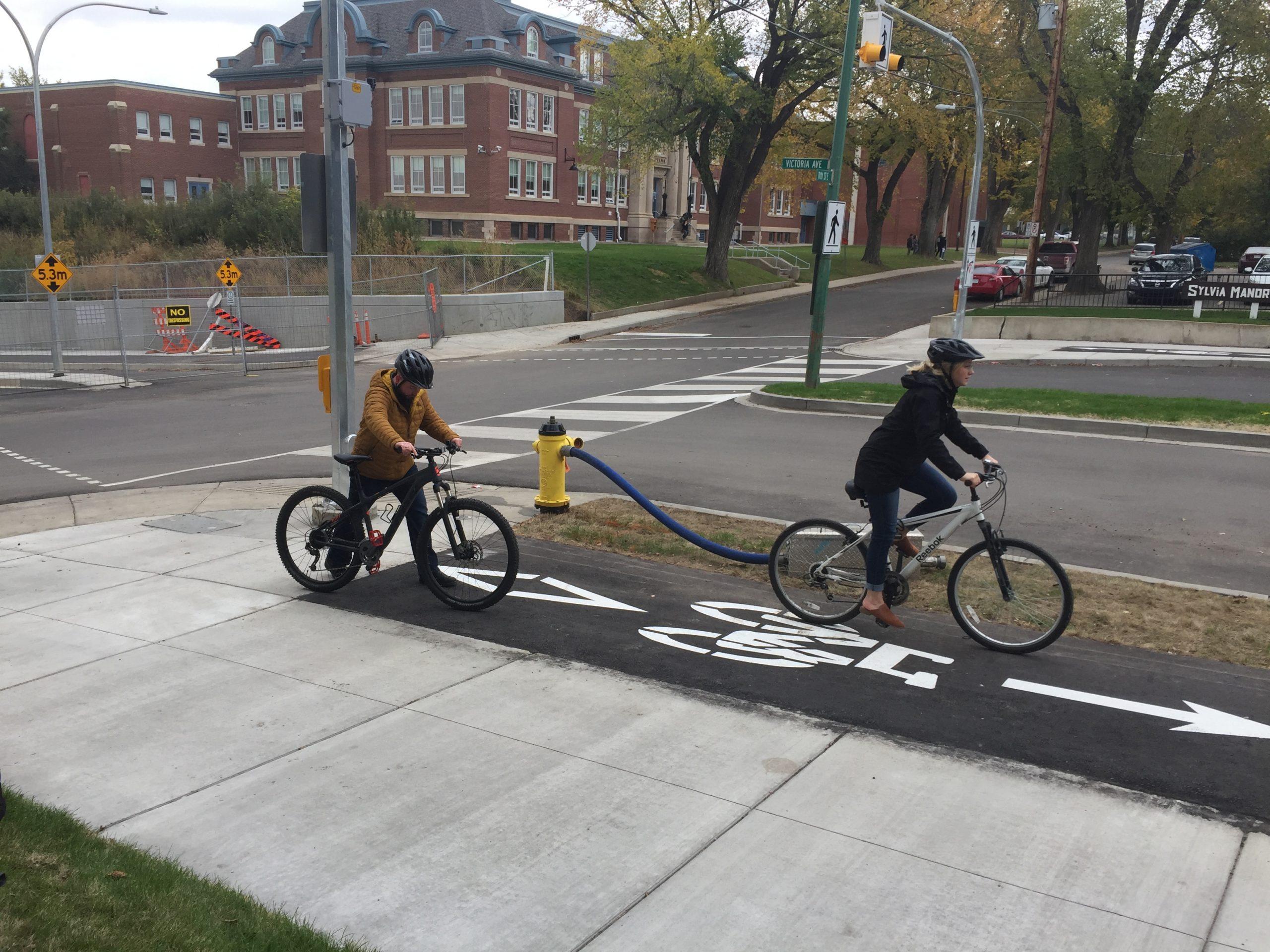 Improvements to Victoria Avenue Include New Bike Tracks