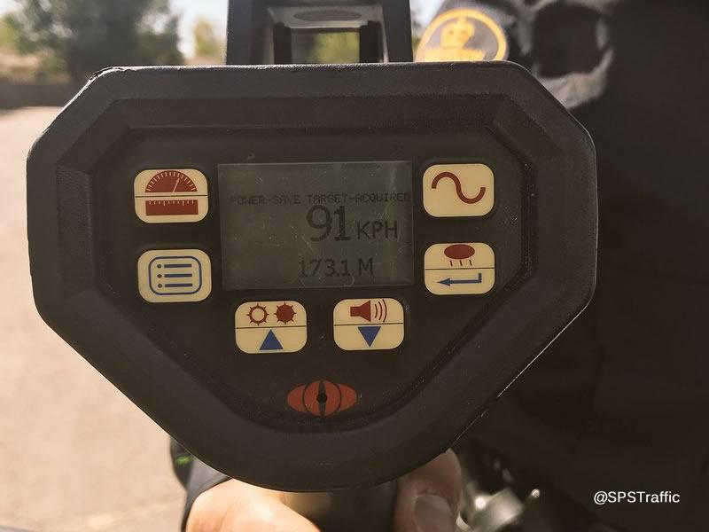 School Zone Speeder Clocked At 91 Km/h