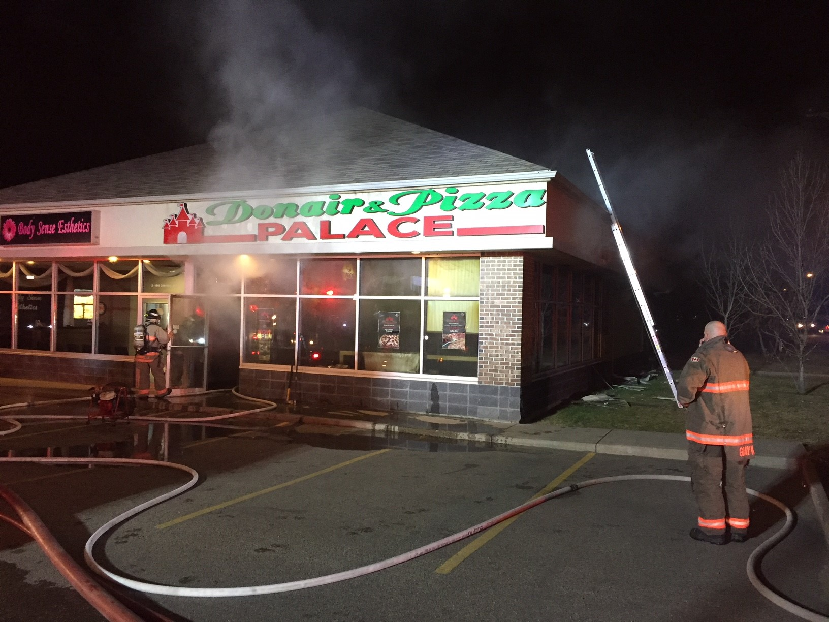 Restaurant Fire Overnight