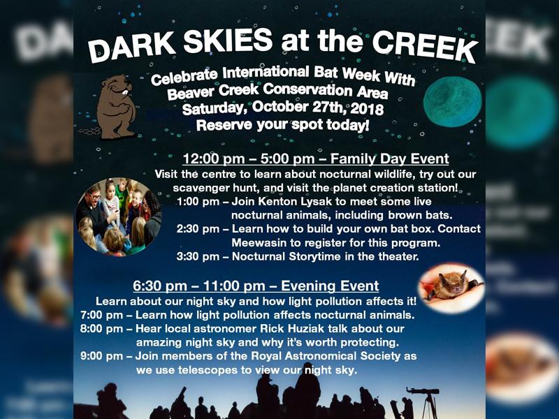 Dark Skies at the Creek Happening at Beaver Creek Saturday Night