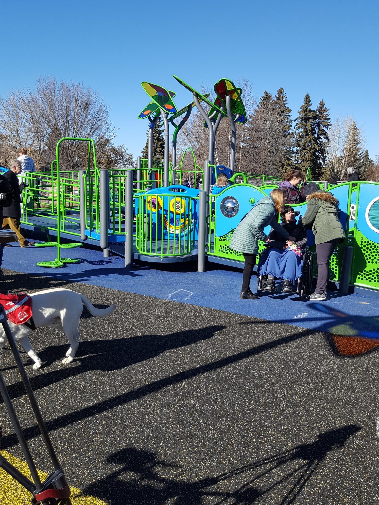 John Dolan School's New Outdoor Sensory Playground