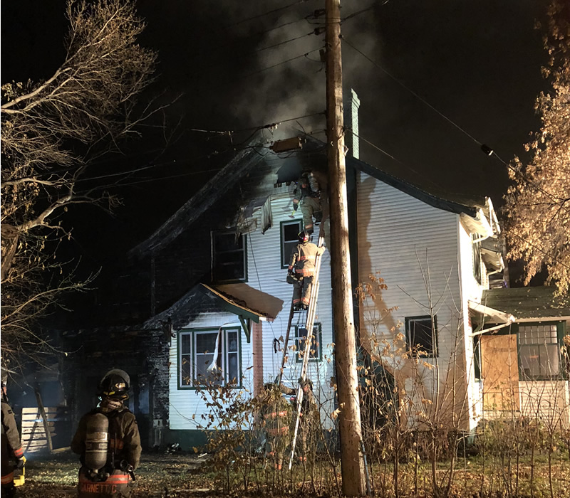 Fire Damage Estimate For Boarded Up House $250-thousand