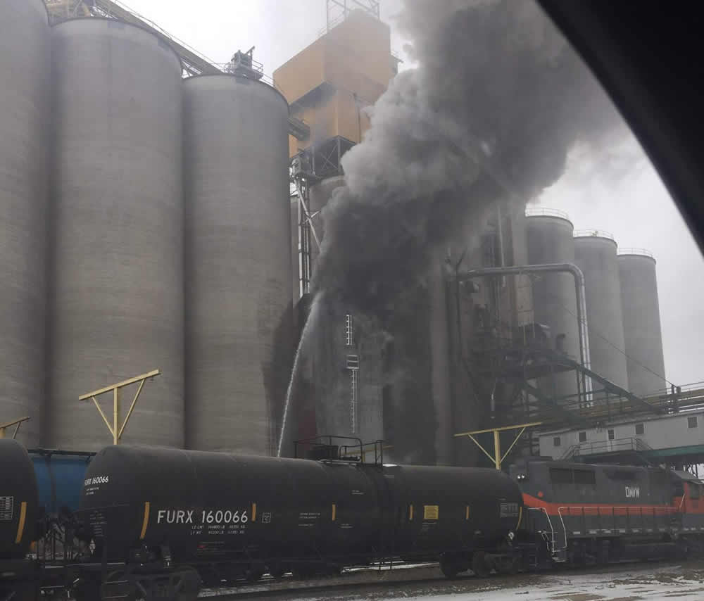 Grain Dryer Fire At Northwest Terminal