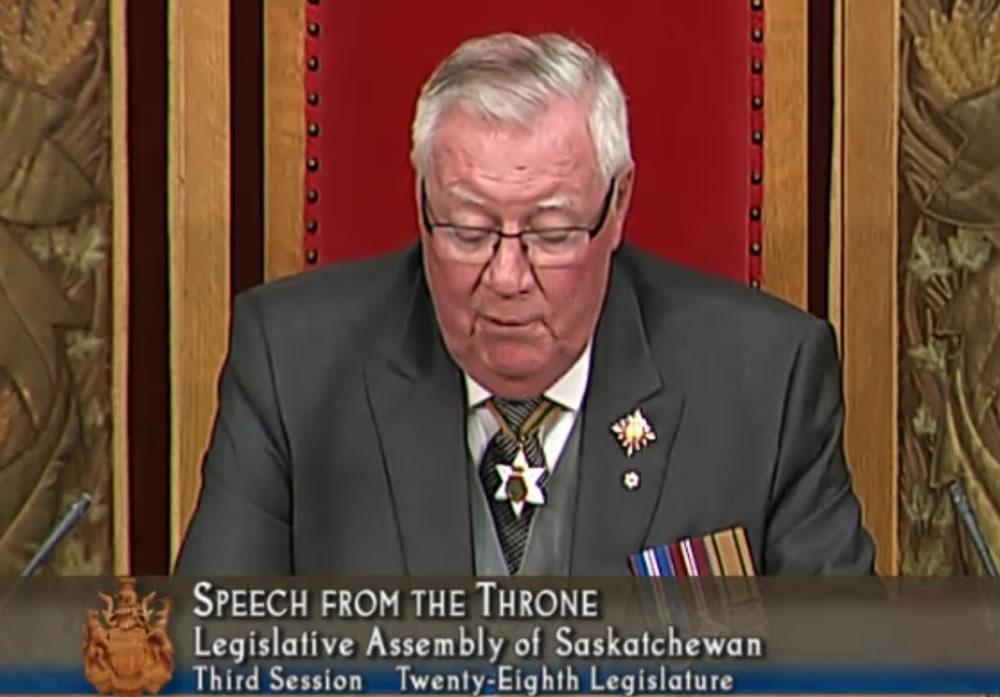 """Throne Speech Declares """"Standing Up For Saskatchewan"""""""