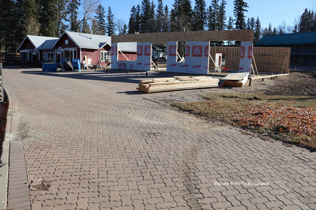 Some Minor Construction Taking Place in Waskesiu