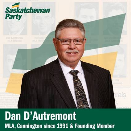 Founding Member of Saskatchewan Party to Retire