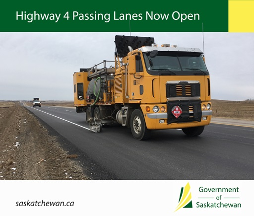 Passing Lanes Open on Highway Four