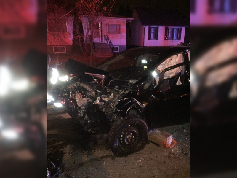 Two-Vehicle Collision Sends One Person to Hospital Friday Night