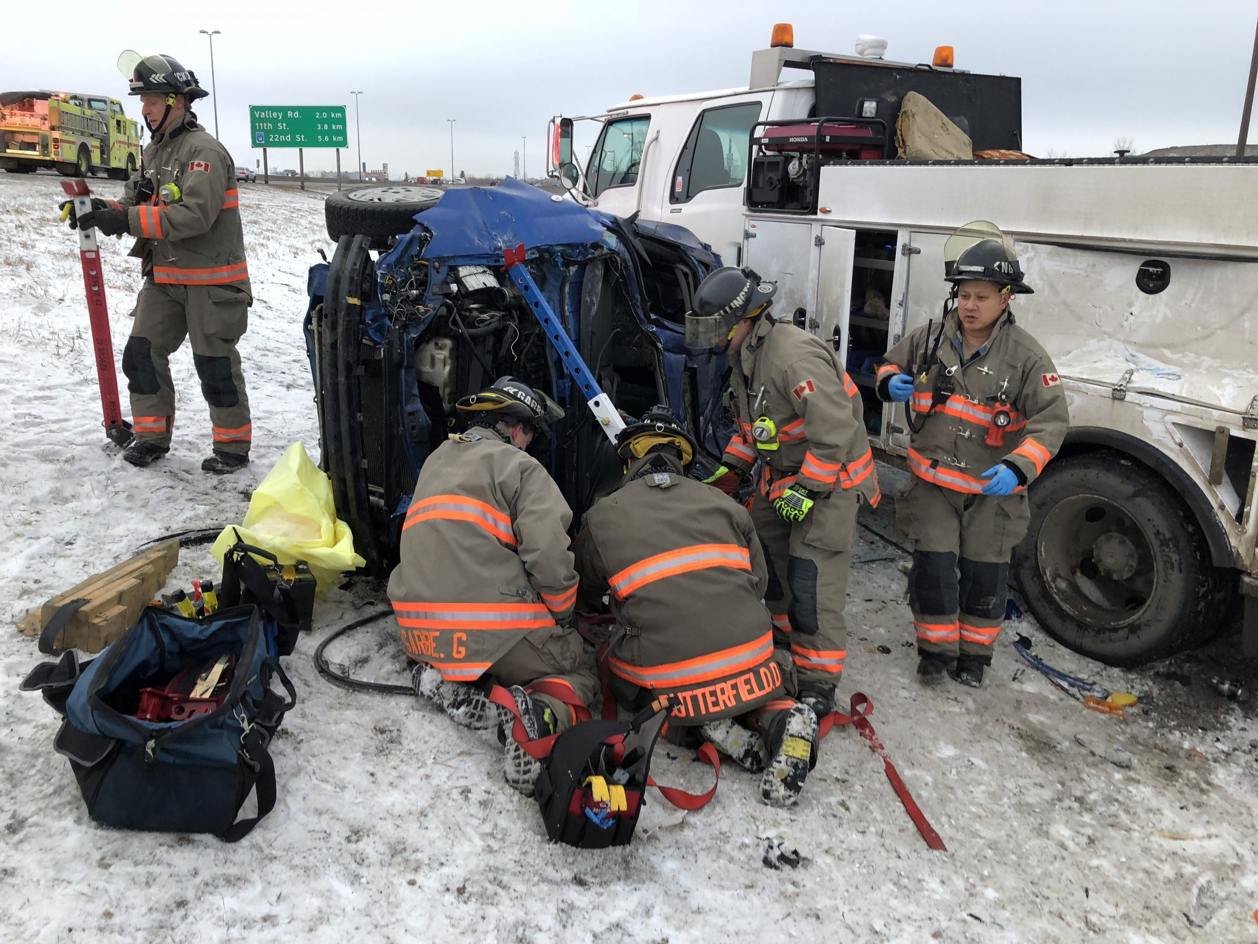Fire Department Rescues Driver from Vehicle