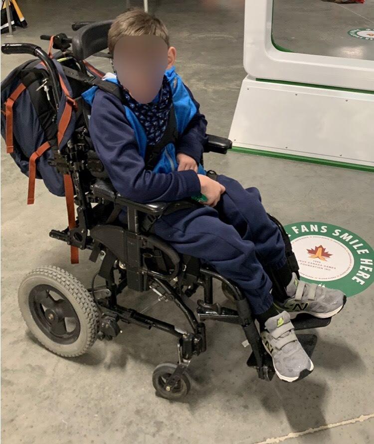 Scrooge Strikes Family; Wheelchair Stolen