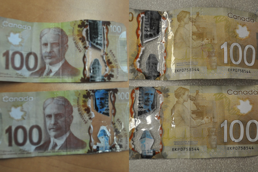 Counterfeit Bills Seized, Still Searching For One Suspect