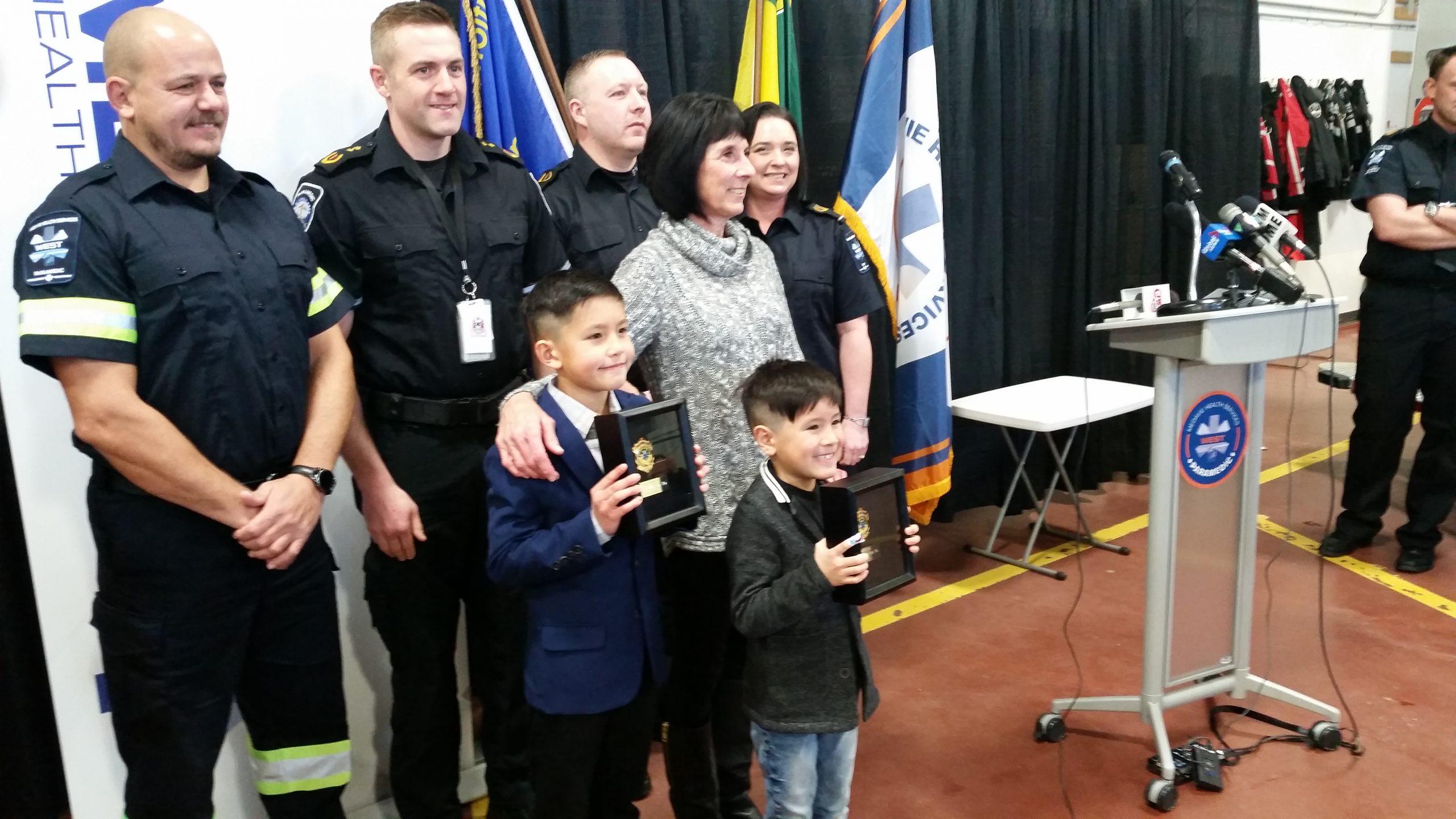 Saskatoon boys awarded for saving their grandmother's life