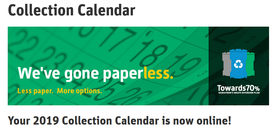 If You Want a Waste Collection Calendar, You Need to Print Your Own