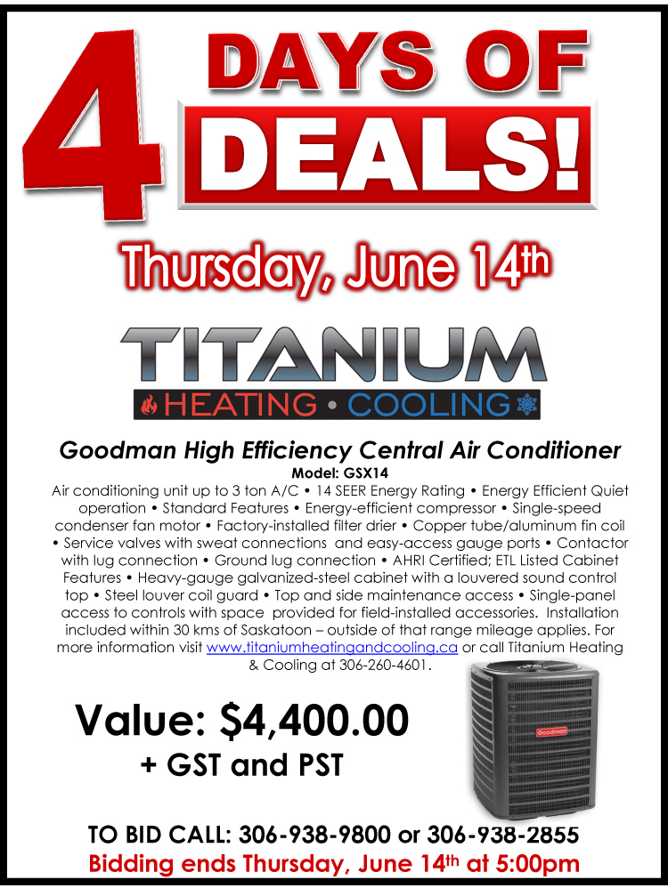 4 Days of Deals  - June 14th