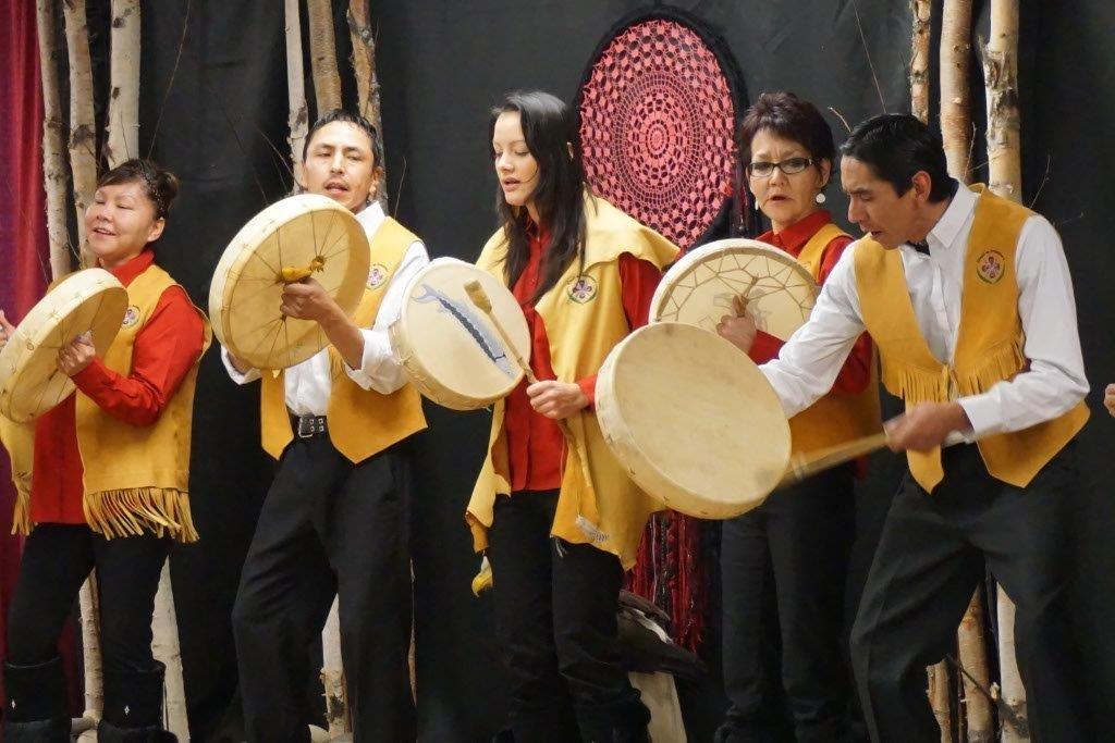 Aboriginal leaders celebrate the 2015 Canada Winter Games