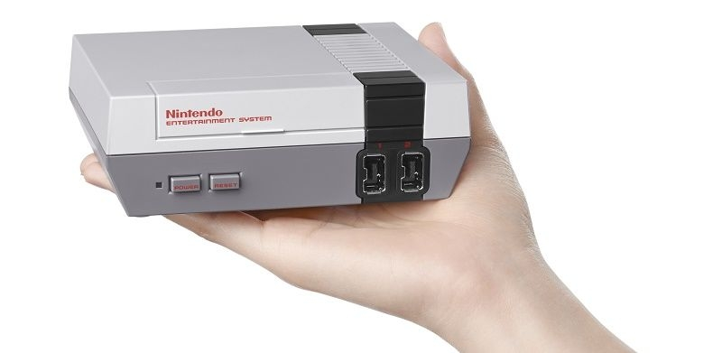 The Mini-NES bring the retro in compact form.