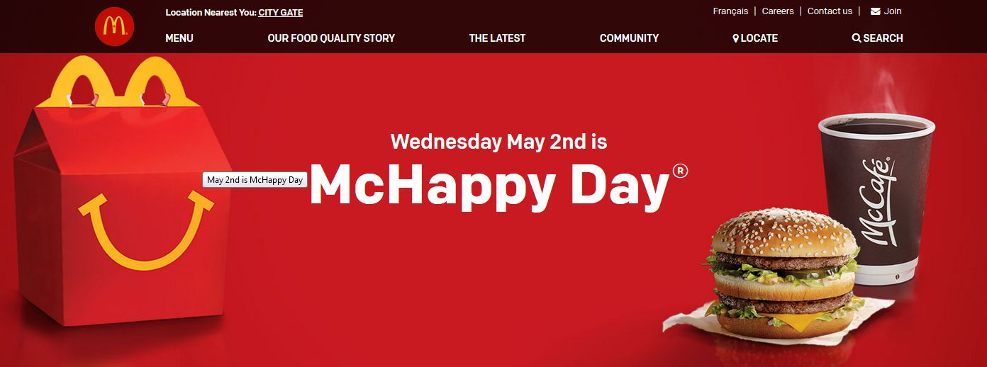 It's McHappy Day!