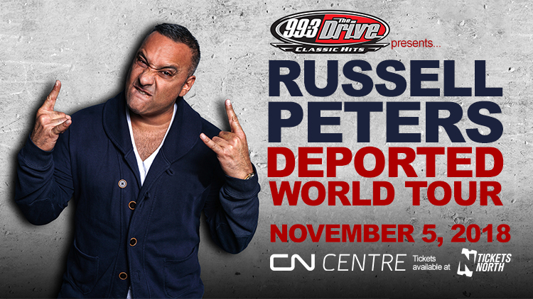 Feature: http://www.993thedrive.com/2018/07/16/russell-peters-deported-world-tour/