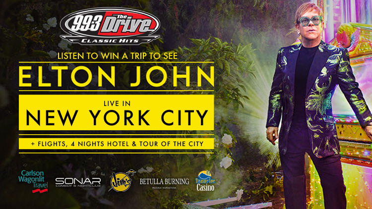 """99.3 The Drive's """" Cab Ride Karaoke"""" to see Elton John in New York!"""