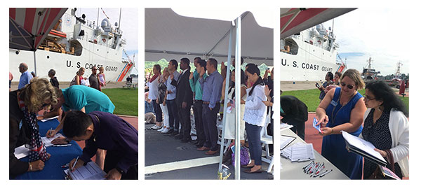 New Citizens Welcomed On USCG Cutter Escanaba
