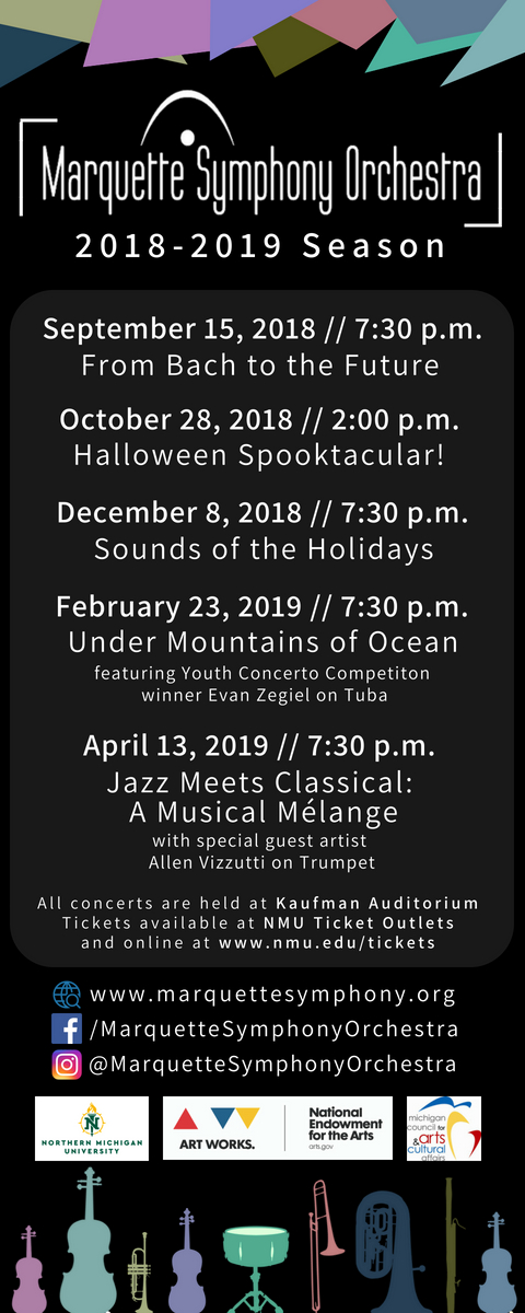 Marquette Symphony Orchestra Unveils Schedule