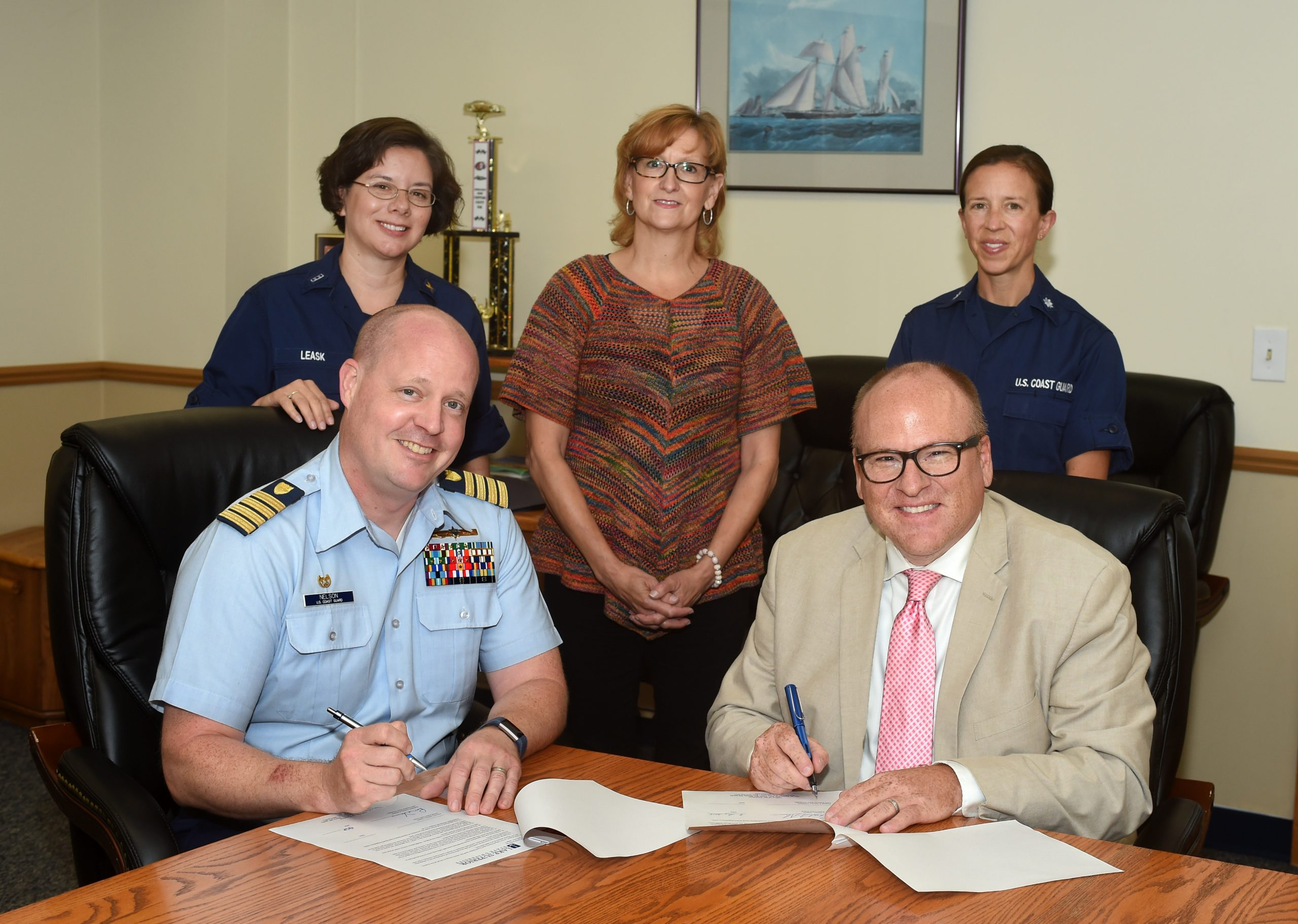 LSSU Renews Tuition Agreement With Coast Guard