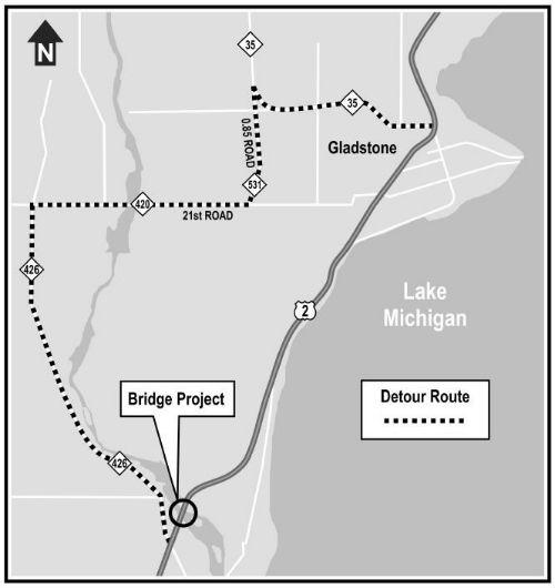 US-2 Escanaba River Bridge Closure Set For Monday